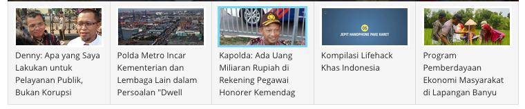 headline Kompas online 30 Juli 2015